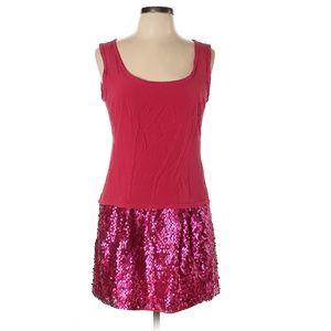 Nanette Lepore Pink Dress with Sequin Hem